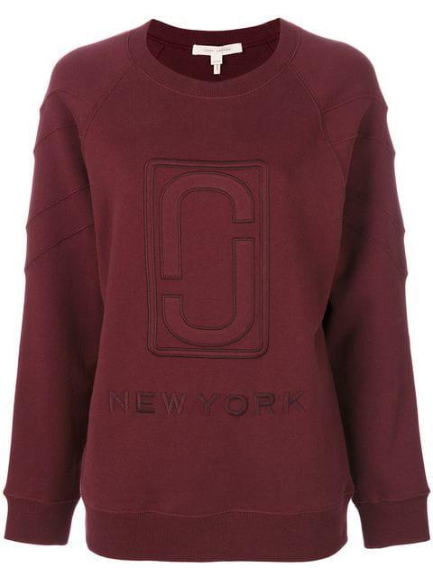 Marc Jacobs Woven Double J Sweatshirt In Burgundy