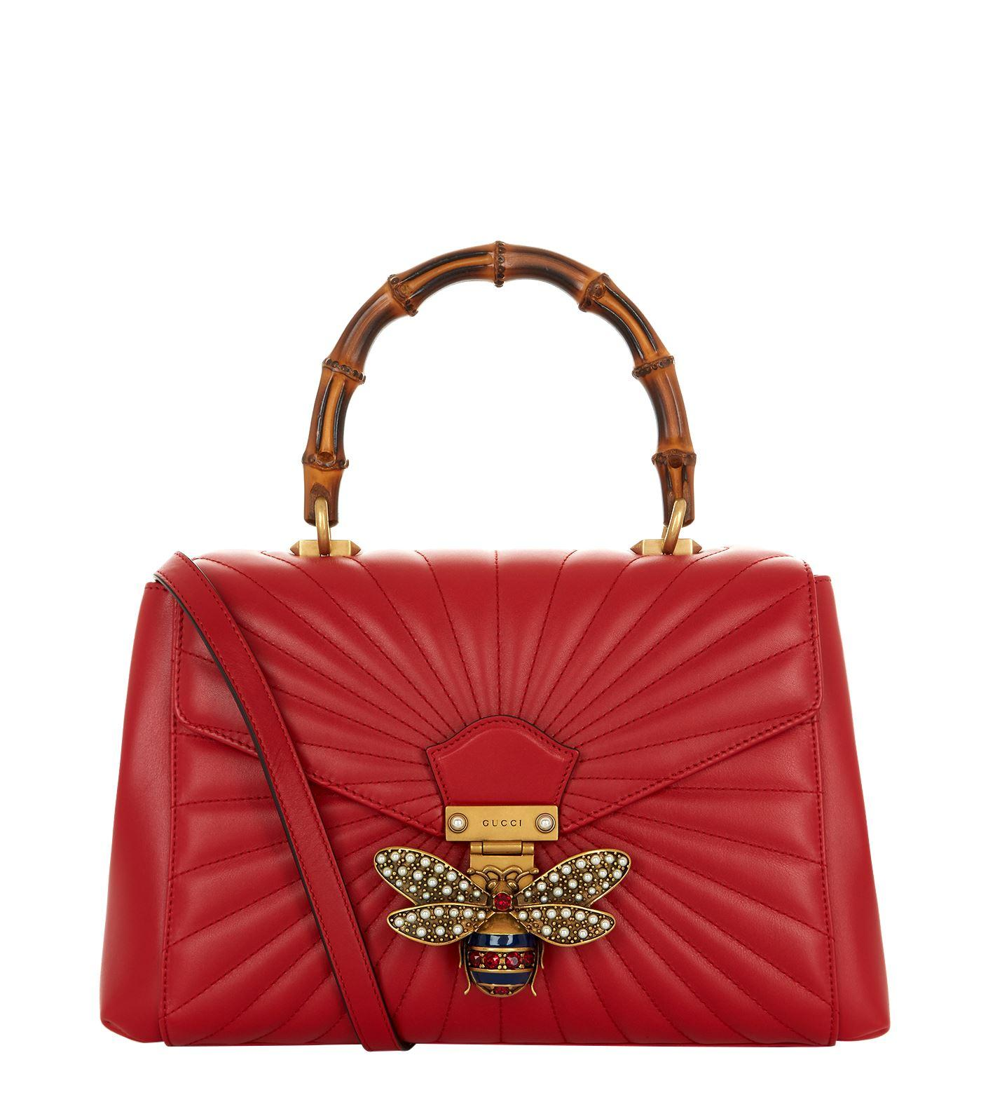 Gucci Small Queen Margaret Top Handle Bag In Red