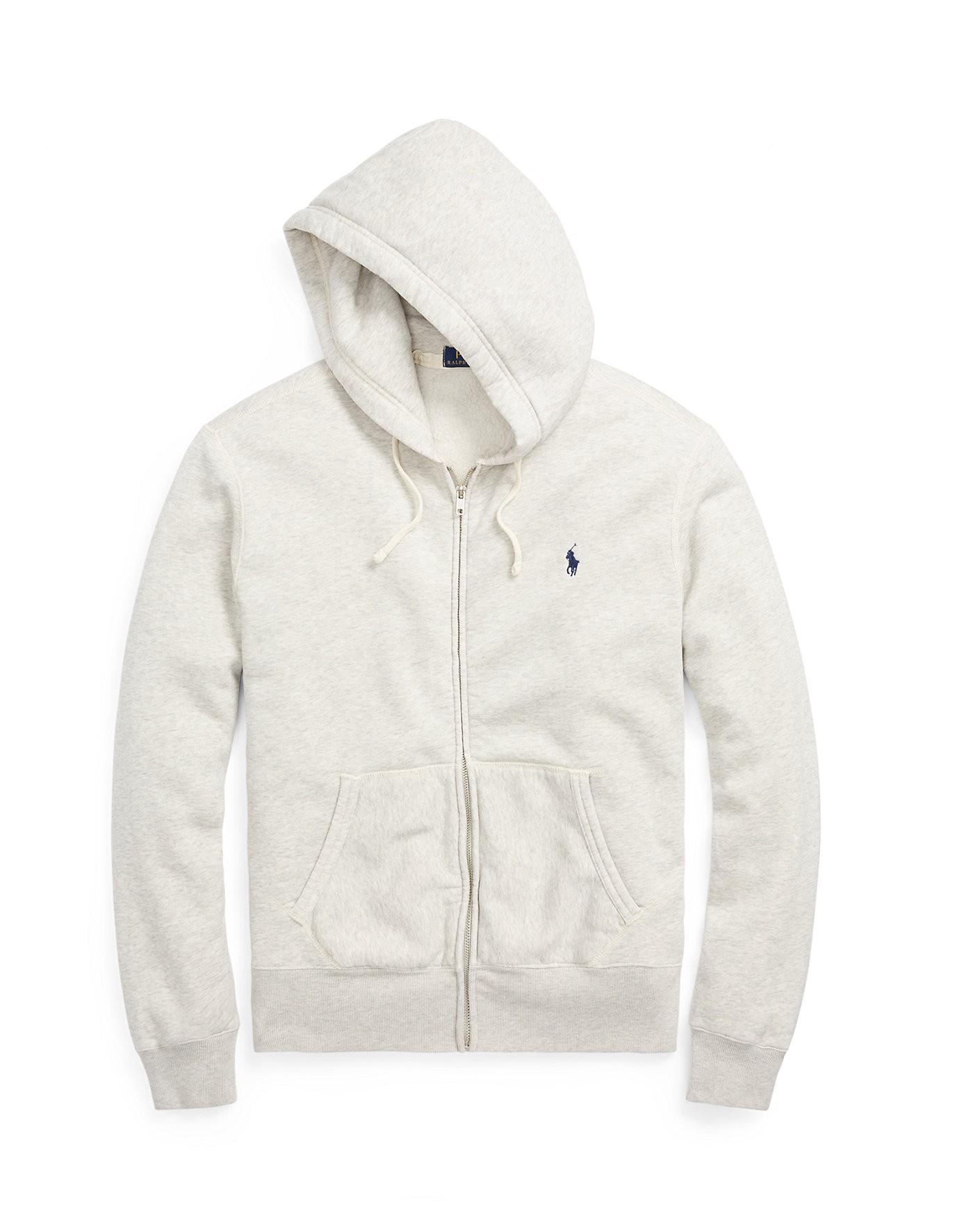 Polo Fleece Cotton Blend Ralph Hoodie Lauren YbgvI7f6y
