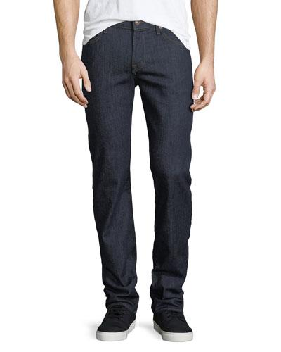 7 For All Mankind Slimmy Clean-pocket Jeans In Blue