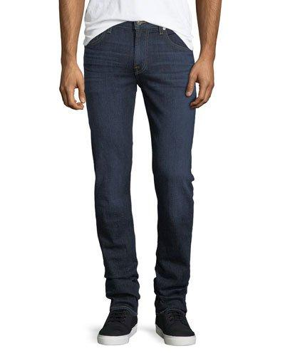 7 For All Mankind Slimmy Straight-leg Jeans In Blue