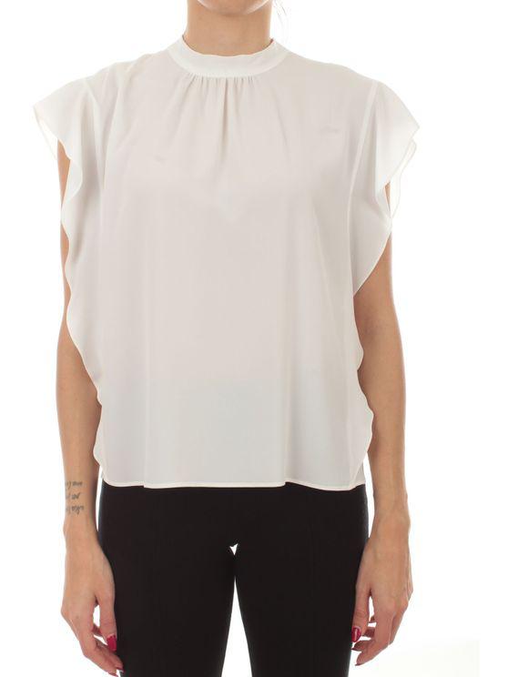 Iblues Women's 711108110001 White Acetate Tank Top