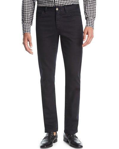Brioni Stretch-denim Slim-straight Jeans In Black