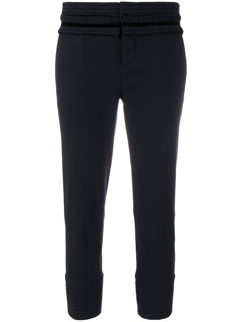 Dsquared2 Ruffle-trimmed Cropped Trousers - Black