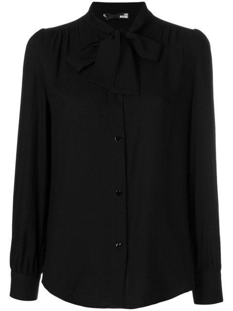Love Moschino Pussy Bow Detail Blouse