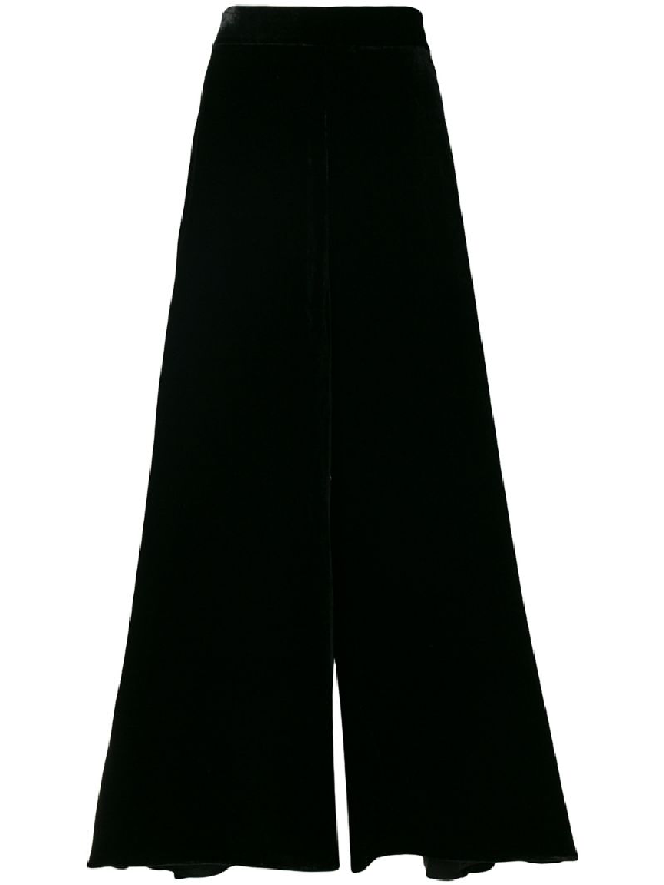 Peter Pilotto High-rise Velvet Culottes In Black