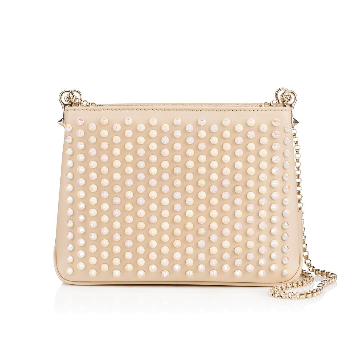 18e307d17a0 Triloubi Small Chain Bag, Ivory, Calfskin, Women Bags, Louboutin.