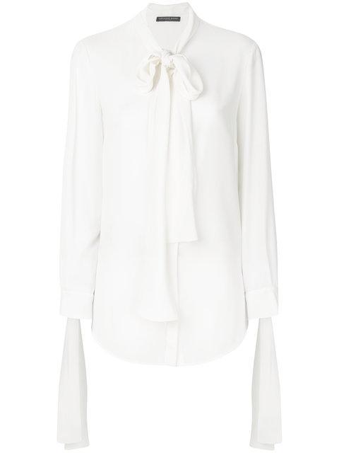 Alexander Mcqueen Tie Neck Blouse - White