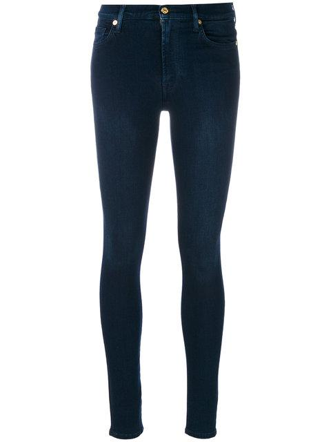7 For All Mankind Skinny Stretch Jeans - Blue