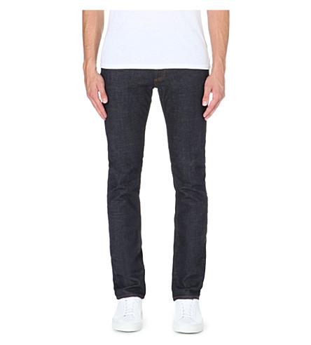 Sandro Tapered Slim Mid-rise Jeans In Raw-denim