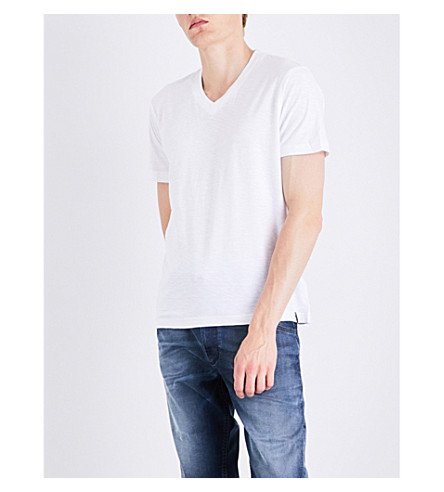 innovative design 1e36a 5816a T-Rene Marled Cotton-Jersey T-Shirt in Bright White