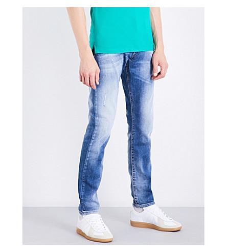 Diesel Thommer Slim-fit Skinny Jeans In Light Wash Blue
