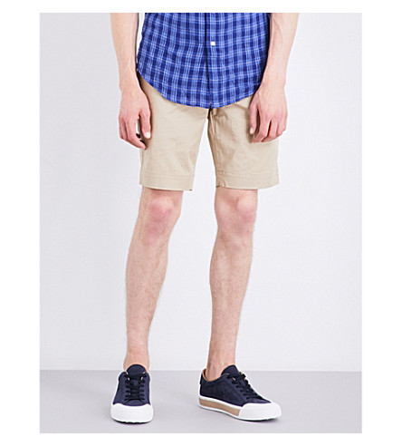 Polo Ralph Lauren Slim-fit Stretch-cotton Shorts In Classic Khaki