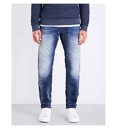 Diesel Narrot-ne Relaxed-fit Tapered Jogg Jeans In Light Wash Blue