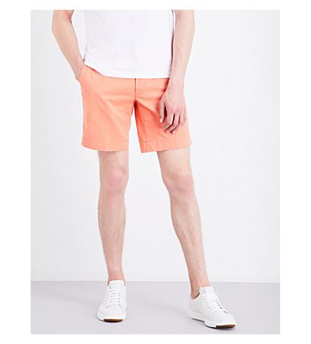Polo Ralph Lauren Straight-fit Cotton Shorts In Capri Orange