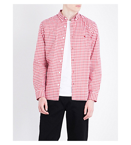 Burberry Stopford Gingham-print Regular-fit Cotton Shirt In Parade Red