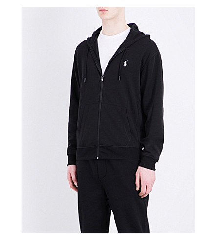 Polo Ralph Lauren Knitted Hoody In Polo Black