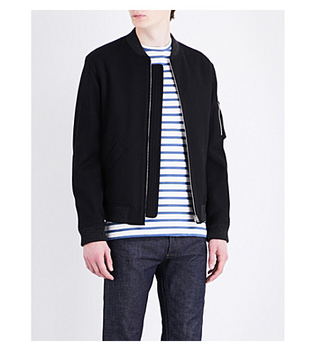 A.p.c. Felix Cotton Jacket In Noir Lzz
