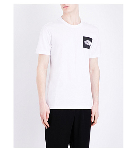 The North Face Logo-print Cotton-jersey T-shirt In Tnf Wh/tnf Bl