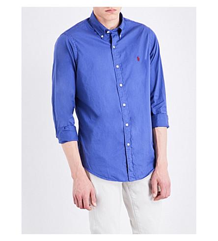 Polo Ralph Lauren Slim-fit Cotton Shirt In Charter Blue