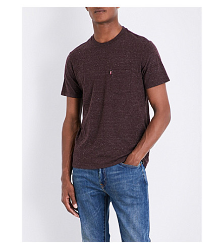 Levi's Sunset Marl-effect Cotton-blend T-shirt In Puce Tri-blend