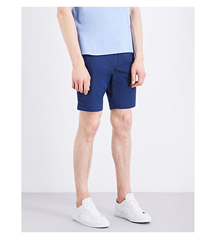 Polo Ralph Lauren Slim-fit Stretch-cotton Shorts In Rustic Navy