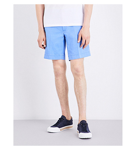 Polo Ralph Lauren Straight-fit Cotton Shorts In Island Blue