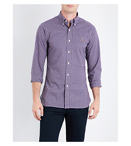 Polo Ralph Lauren Checked Cotton Shirt In 1800 Navy/red