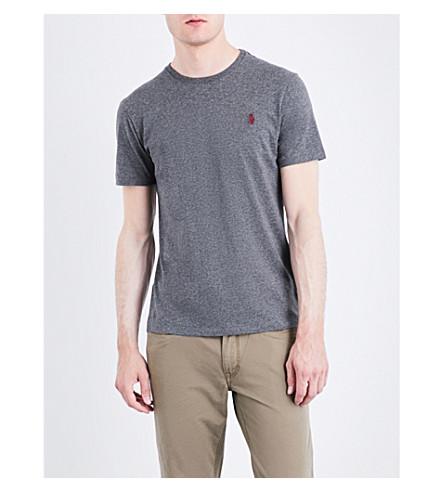 Polo Ralph Lauren Pony-motif Custom Slim-fit Cotton-jersey T-shirt In Stadium Grey He
