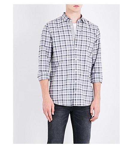 Tommy Hilfiger Florence Slim-fit Cotton Shirt In Cloud Htr/maritime Blue