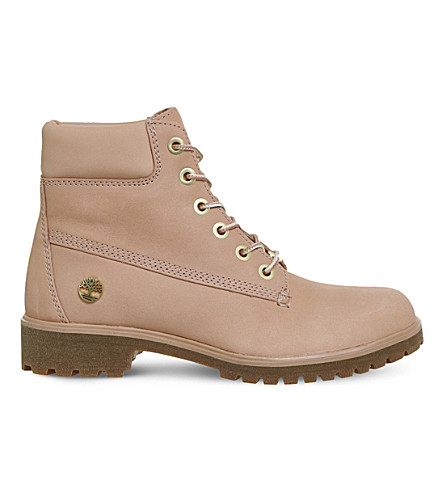 Timberland Slim Premium 6-inch Leather Boots In Dusty Pink Nubuck