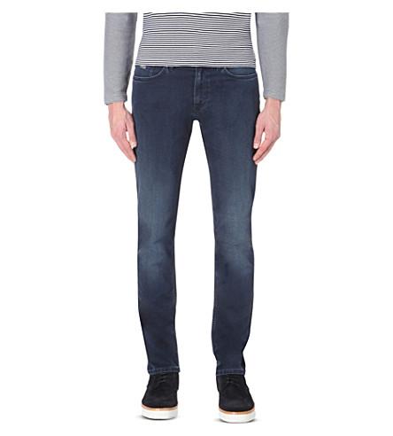 Hugo Boss Leisure Slim-fit Tapered Denim Jeans In Medium Blue