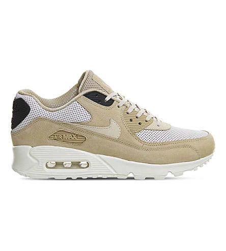 Nike Air Max 90 Pinnacle Leather Sneakers In Mushroom Oatmeal