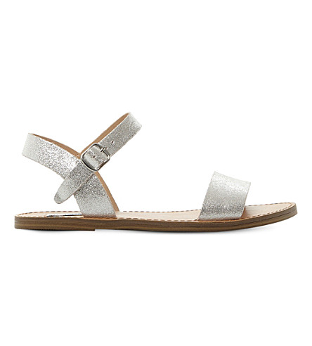 Steve Madden Kondi Two-part Sandals In Silver-leather