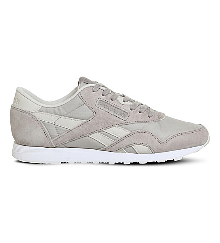 Reebok Classic Nylon Suede Trainers In Intuition X Face