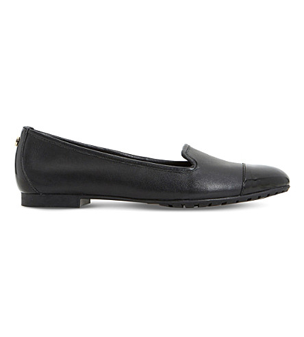 Dune Geneveve Leather Pumps In Black-leather