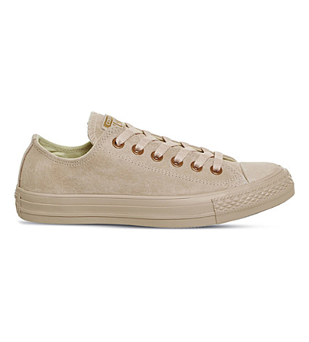 Converse All Star Low-top Studded Leather Trainers In Bisque Rose Gold