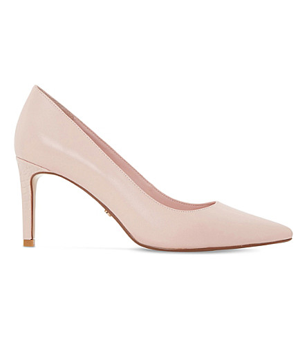 Dune Abbigail Suede Courts In Blush-leather