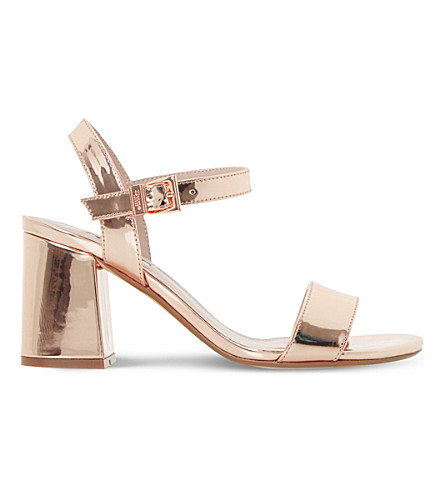Dune Mylow Metallic Sandals In Rose Gold-metallic