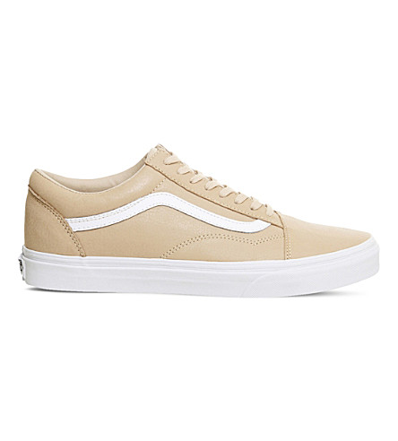 52f37dfe246 Vans Old Skool Low-Top Leather Trainers In Toasted Almond