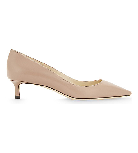 Jimmy Choo Romy 40 Leather Courts In Ballet Pink