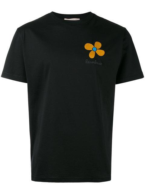 Christopher Kane Embroidered Flower Unisex T In Black