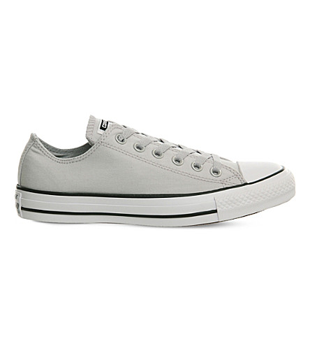 Converse All Star Canvas Low-top Sneakers In Ash Grey Chambray