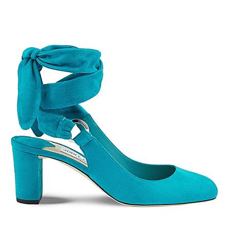 Jimmy Choo Malika 65 Suede Heeled Sandals In Roman Blue