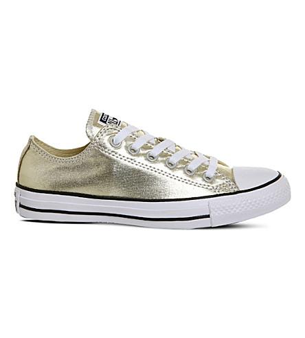 Converse Chuck Taylor All-star Metallic Sneakers In Light Gold Metallic
