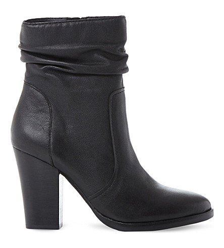 Steve Madden Hunk Sm Leather Calf Boot In Black-leather