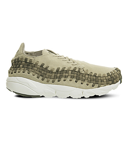 Nike Air Footscape Suede Sneakers In Khaki Olive Sail