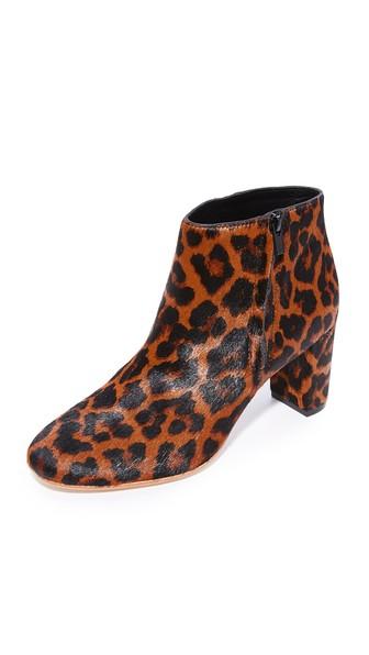 Loeffler Randall Greer Ankle Booties In Leopard