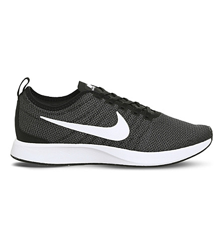 Nike Dualtone Racer Mesh Trainers In Black White M