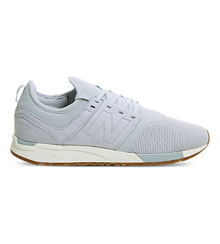 New Balance 247 Classic Leather Trainers In Light Blue White